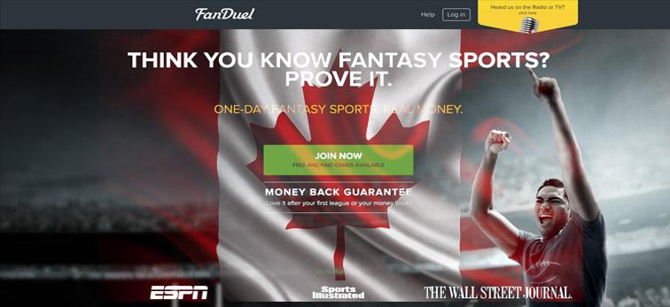 Fan duel Legal In Canada