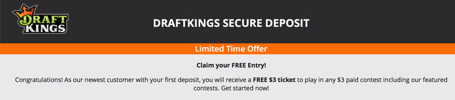draftkings promo ticket